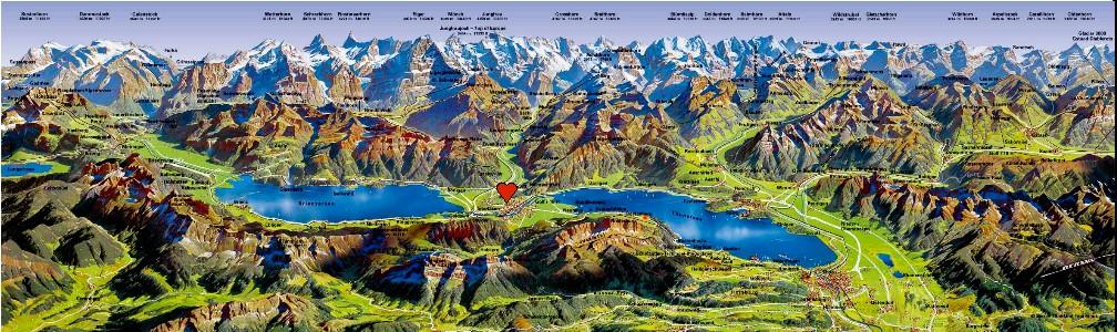 The Jungfrau region map