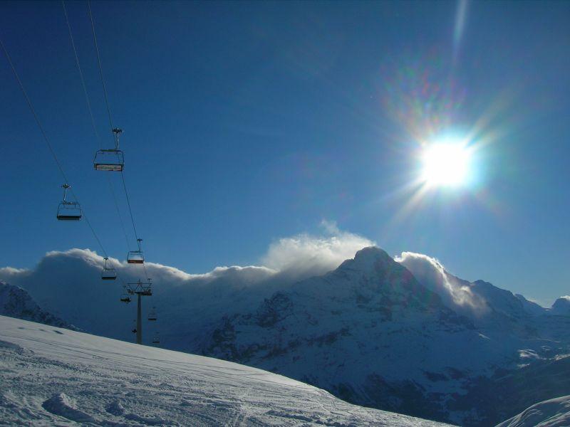 Jungfrau winter skiing