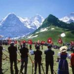 tourist jungfrau region switzerland