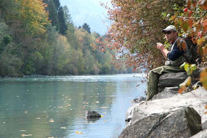 upstream fly fishing Switzerland