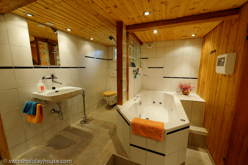 The house swiss holiday house for Private jet bathroom