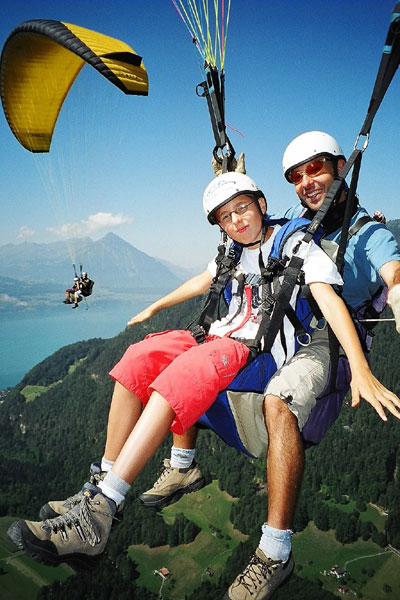 tandem paragliding Switzerland