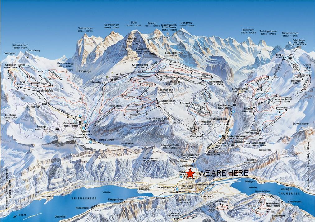 skiing, snowboarding in the Jungfrau region 2013